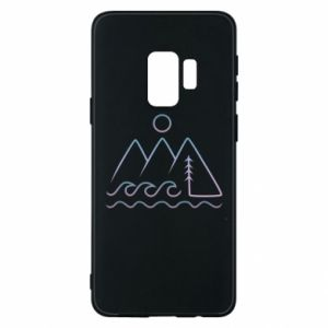 Phone case for Samsung S9 Mountains and the sea - PrintSalon