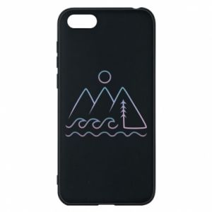 Phone case for Huawei Y5 2018 Mountains and the sea - PrintSalon