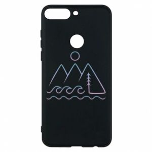 Phone case for Huawei Y7 Prime 2018 Mountains and the sea - PrintSalon