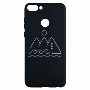 Phone case for Huawei P Smart Mountains and the sea - PrintSalon