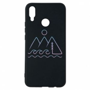 Phone case for Huawei P Smart Plus Mountains and the sea - PrintSalon