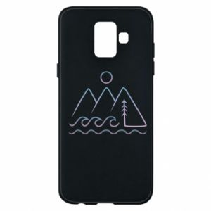 Phone case for Samsung A6 2018 Mountains and the sea - PrintSalon