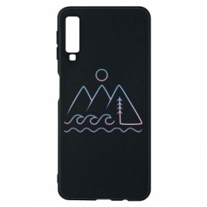 Phone case for Samsung A7 2018 Mountains and the sea - PrintSalon