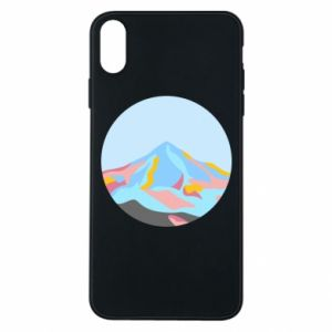 Phone case for iPhone Xs Max Mountains in a circle