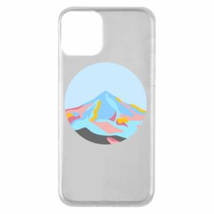 Phone case for iPhone 11 Mountains in a circle