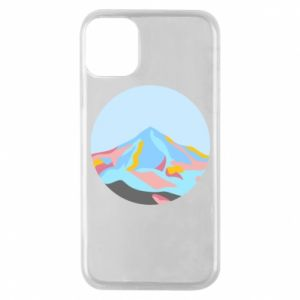 Phone case for iPhone 11 Pro Mountains in a circle