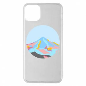 Phone case for iPhone 11 Pro Max Mountains in a circle