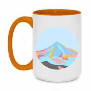 Two-toned mug 450ml Mountains in a circle