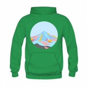 Bluza z kapturem dziecięca Mountains in a circle