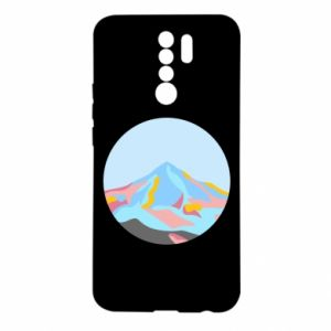 Etui na Xiaomi Redmi 9 Mountains in a circle
