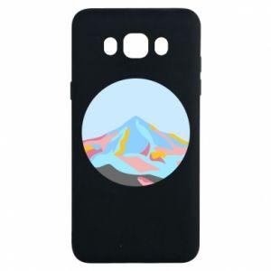 Etui na Samsung J7 2016 Mountains in a circle