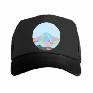 Trucker hat Mountains in a circle