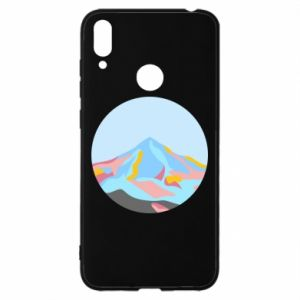 Etui na Huawei Y7 2019 Mountains in a circle