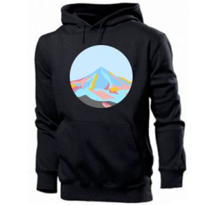 Men's hoodie Mountains in a circle