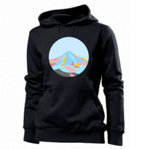 Women's hoodies Mountains in a circle