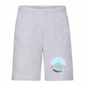 Men's shorts Mountains in a circle