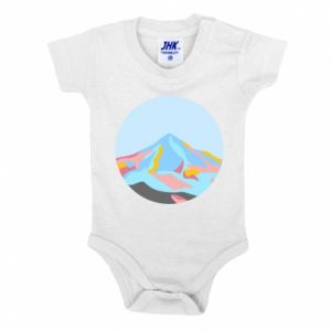 Baby bodysuit Mountains in a circle