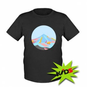 Dziecięcy T-shirt Mountains in a circle