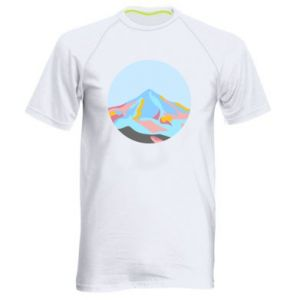Men's sports t-shirt Mountains in a circle