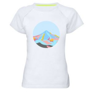 Women's sports t-shirt Mountains in a circle