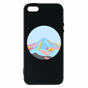 Phone case for iPhone 5/5S/SE Mountains in a circle
