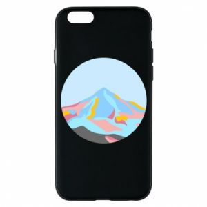 Phone case for iPhone 6/6S Mountains in a circle