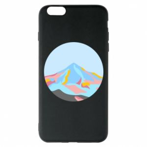 Phone case for iPhone 6 Plus/6S Plus Mountains in a circle