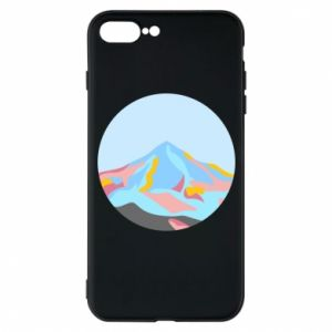 Phone case for iPhone 7 Plus Mountains in a circle