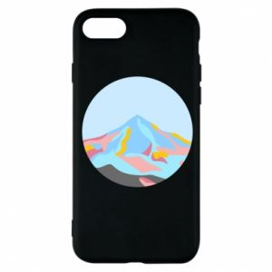 Phone case for iPhone 8 Mountains in a circle