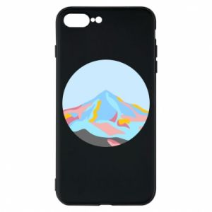 Phone case for iPhone 8 Plus Mountains in a circle