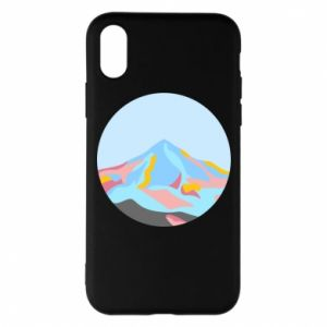 Phone case for iPhone X/Xs Mountains in a circle