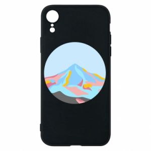 Phone case for iPhone XR Mountains in a circle