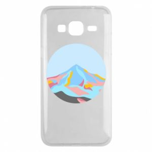 Phone case for Samsung J3 2016 Mountains in a circle