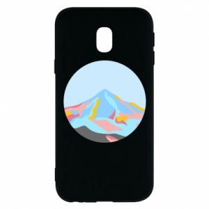 Phone case for Samsung J3 2017 Mountains in a circle