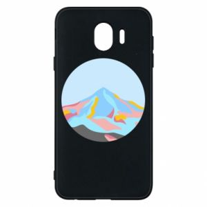 Phone case for Samsung J4 Mountains in a circle