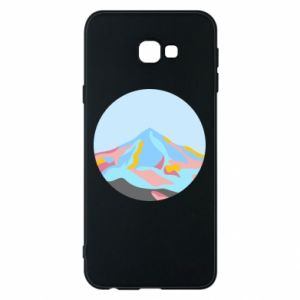 Phone case for Samsung J4 Plus 2018 Mountains in a circle