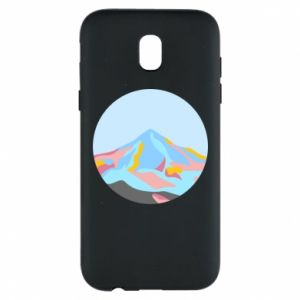 Phone case for Samsung J5 2017 Mountains in a circle