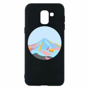 Phone case for Samsung J6 Mountains in a circle