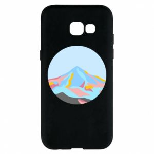Phone case for Samsung A5 2017 Mountains in a circle