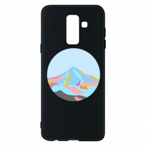 Phone case for Samsung A6+ 2018 Mountains in a circle
