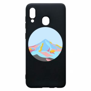 Phone case for Samsung A20 Mountains in a circle