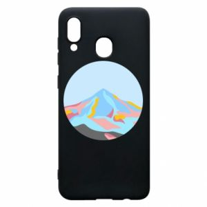 Phone case for Samsung A30 Mountains in a circle