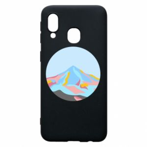 Phone case for Samsung A40 Mountains in a circle
