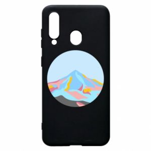 Phone case for Samsung A60 Mountains in a circle