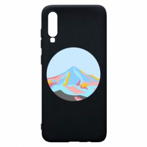 Phone case for Samsung A70 Mountains in a circle
