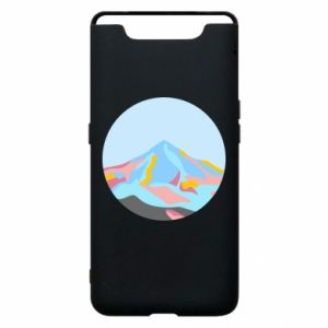 Phone case for Samsung A80 Mountains in a circle