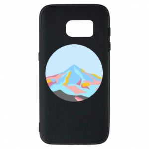 Phone case for Samsung S7 Mountains in a circle