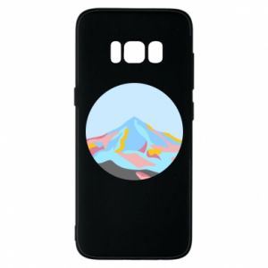 Phone case for Samsung S8 Mountains in a circle