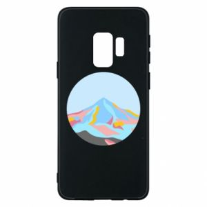 Phone case for Samsung S9 Mountains in a circle