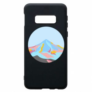 Phone case for Samsung S10e Mountains in a circle